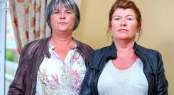 Catherine McCartney (left) and Paula, who say they did not want justice for their brother Robert down the barrel of a gun