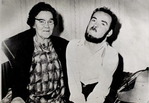 Christy Brown and his mother