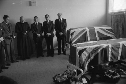 Mourners pay their respects after the killing of Lord Louis Mountbatten by an IRA bomb on the Shadow V off Mullaghmore in Co Sligo