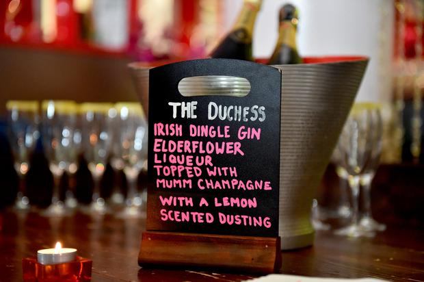 Sign for the cocktail christened The Duchess