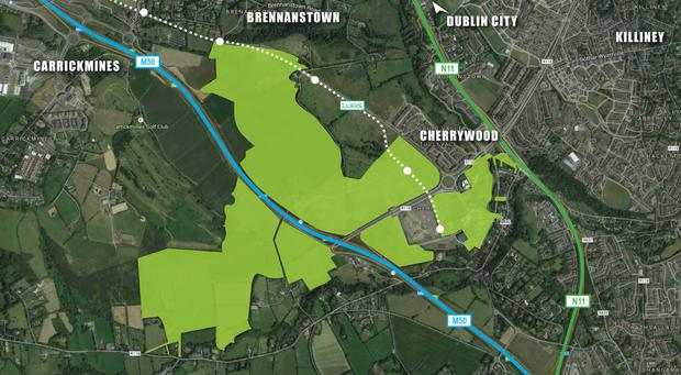 The development in Cherrywood, Dublin, will include 3,000 new homes, large parks and shopping spaces