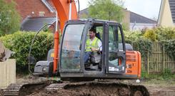 Michael Taggart on the site of his new build in Limavady