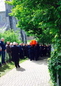 Gda Sgt Galvin's funeral in Manorhamilton