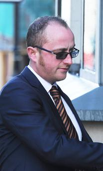 Ryan Magee pictured at a hearing in Derry on May 29