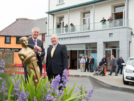 Michael Ring and Noel Kavanagh at Westport Town Hall Theatre