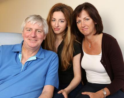 LIFE SAVER: Michael and Anne Lyster with their daugher Rebecca, on the road to full health