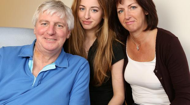 Michael and Anne Lyster with their daugher Rebecca, on the road to full health