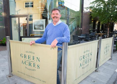 Businessman James O'Connor outside Green Acres in Wexford town. Photo: Patrick Browne
