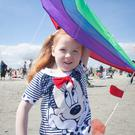 Ciara Keating (4) from Kiltipper at the Dublin Kite Festival on North Bull Island, Clontarf in Dublin yesterday