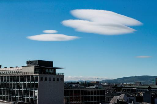 UFO-shaped Lenticular Clouds that formed over the capital