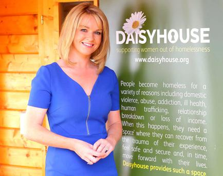 Claire Byrne, who has been appointed an ambassador for Daisyhouse, which provides temporary accommodation and critical support services to homeless women