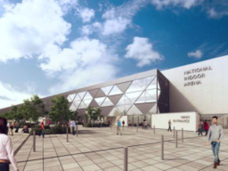 Artists impression of the National Indoor Arena, Dublin