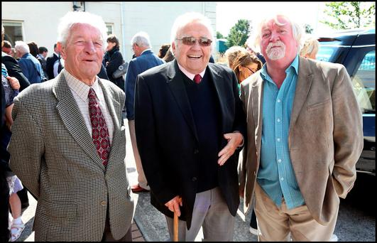 Gerry Carroll, former head of sport at the Evening Herald, Padraig Beirne, former Irish Independent pictures editor, and former Evening Herald reporter, Charlie Mallon