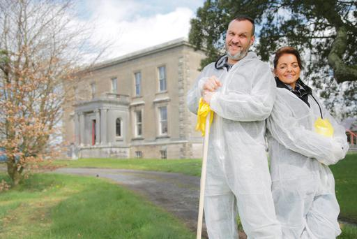 Compulsive cleaners Richard and Gemma get to grips with the clutter at Castle Ellen, in Co Galway, home to Michael Keaney