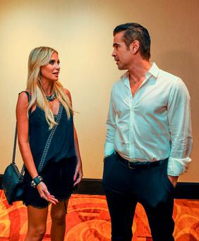 Team Ireland ambassadors Claudine Keane and Colin Farrell at a Special Olympics Ireland reception in Los Angeles