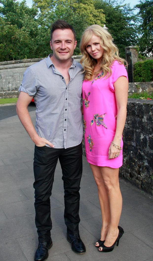 The former Westlife singer Shane Filan with his wife Gillian