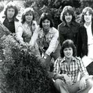 Miami Showband members (left to right) Brian McCoy, Fran O'Toole, Des Lee, Stephen Travers, Tony Geraghty and (sitting in front) Ray Miller