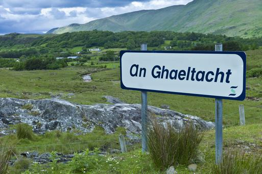 Gaelic Speaking Area Sign, Connemara, Ireland