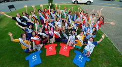 All 32 Roses for this year's Rose of Tralee festival show their support for Goal Jersey Day by wearing their favourite sports shirt yesterday. All funds raised for the event on October 9 will benefit Goal's projects for the poorest of the poor in the developing world