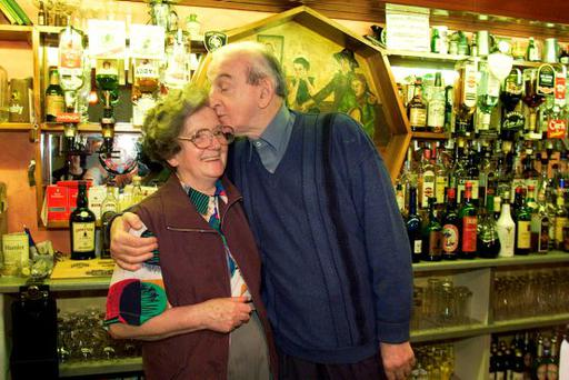 Mary Keane and playwright John B Keane
