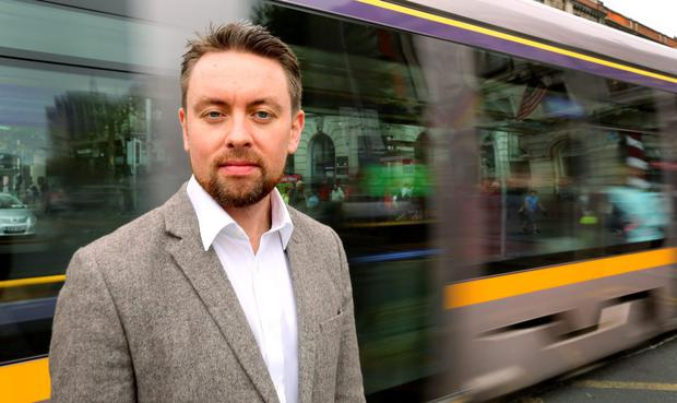 Donal Lynch pictured with the Luas