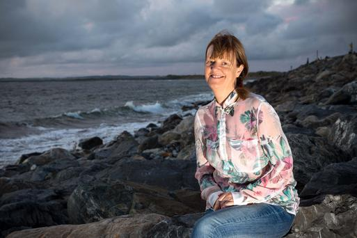 Orna Ross in Sligo where she launched her double book, Secret Rose, at the Yeats Summer School. Photo: James Connolly.