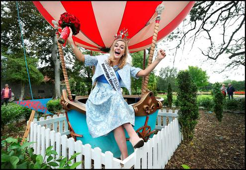 Newly crowned Rose of Tralee Elysha Brennan in the Rose Garden in Tralee