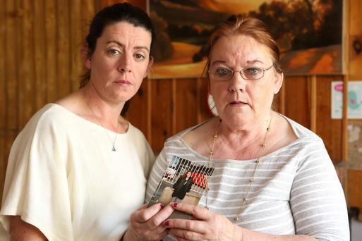 Fiona's sister Diane Sinnott and mother Mary Sinnott. Photo: Gerry Mooney