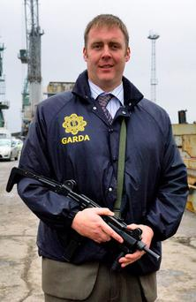 Murdered: A relative of the 'royal' Provo family at the centre of the missing money is one of the suspects in the murder of Det Gda Adrian Donohue