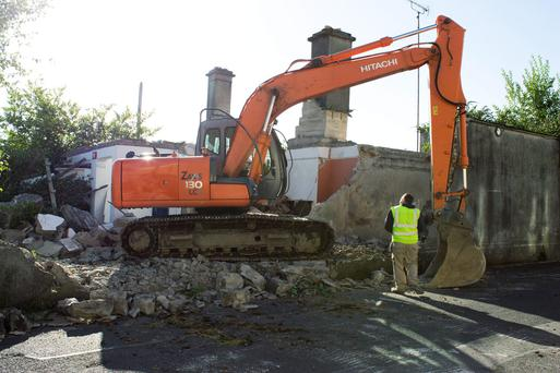 BULLDOZED: Lord Maurice Saatchi wasn't told the home of his late wife was being demolishedby Westmeath County Council