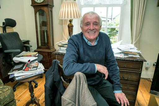 Eamon Dunphy pictured at his home in Ranelagh