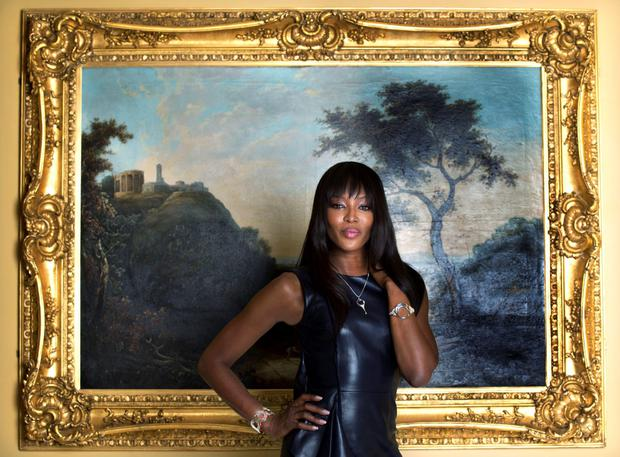 International supermodel Naomi Campbell, announced as the new face of Newbridge Silverwar
