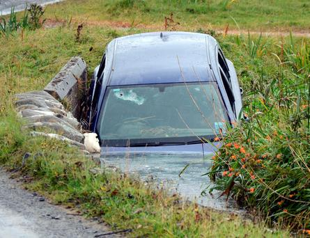 The car in which Roger Grainger was swept away