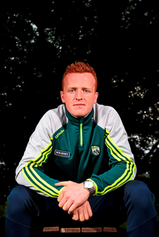 14 September 2015; Kerry's Johnny Buckley during a press evening ahead of their GAA Football All-Ireland Senior Championship Final with Dublin. Kerry Senior Football Team Press Conference, Brehon Hotel, Killarney, Co. Kerry. Picture credit: Diarmuid Greene / SPORTSFILE