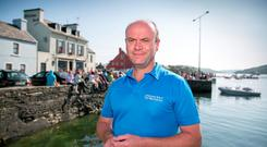 Dermot O'Sullivan pictured outside his family pub O'Sullivan's at Crookhaven, West Cork
