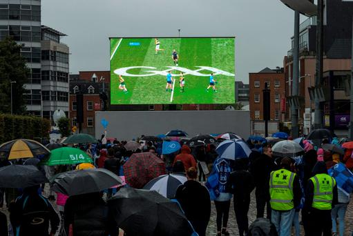 Pouring rain did not dampen the spirits of fans in Smithfield