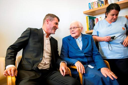 Roy Keane pictured with Sr Augustine at Marymount University Hospital & Hospice in its new interventional pain service facility at Marymount, Curraheen, Cork