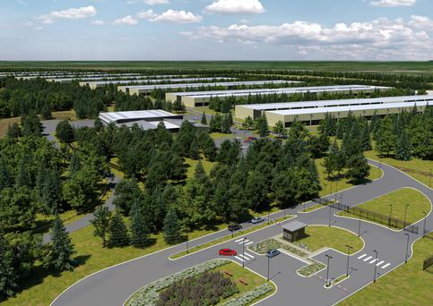 An artist's impression of the new Apple data centre planned for Athenry, Co Galway