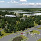 An artist's impression of the new Apple data centre planend for Athenry, Co Galway