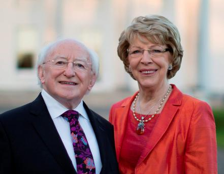 DEVOTED: President Michael D Higgins with his wife, and 'rock', Sabina