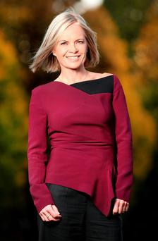 BOOKISH BEAUTY: Mariella Frostrup in Dublin this week at Vodafone's Look The Business fashion event
