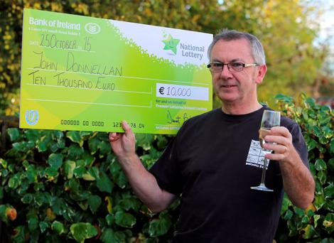 John Donnellan from Ballinasloe, Co. Galway was the winner of 10,000 Irish Independent /National Lottery competition