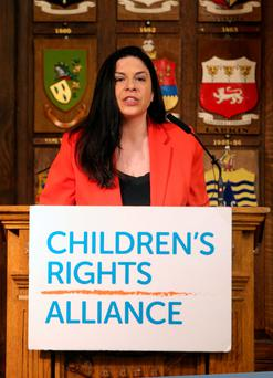 Tanya Ward, Chief Executive, Childrens rights Alliance speaks at the ChildrenÕs Rights Alliance launch Report, Are we there yet? to top UN Body