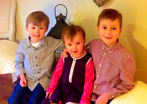 The late Ciaran Treacy (L), with his sister Caoimhe and brother Sean