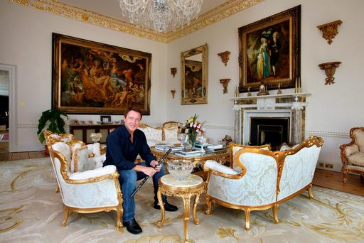 Michael Flatley favourite room in Castlehyde, Co. Cork. Drawing room