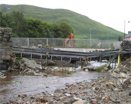 Connemara's Leenaun Bridge was devastated in 2007