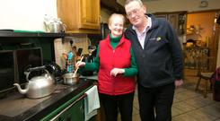 Patrick and Margaret Mason in the kitchen of their home in Springfield, Clonlara, Co Clare. Phoot: Brian Gavin