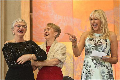 LOVE: Miriam O'Callaghan oversaw the renewal of vows by Senator Katherine Zappone and Anne Louise Gilligan