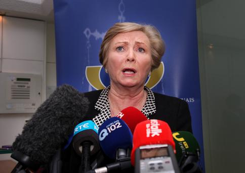 Frances Fitzgerald speaking at the Department of Justice yesterday. Photo: Tom Burke