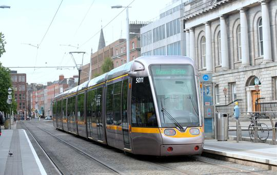 Luas workers have threatened to withdraw services every two weeks until a dispute over pay and conditions is settled. Photo: Caroline Quinn